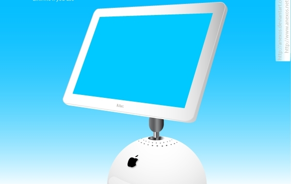 Free Vectors: Apple iMac Display Monitor | Gavri\'el