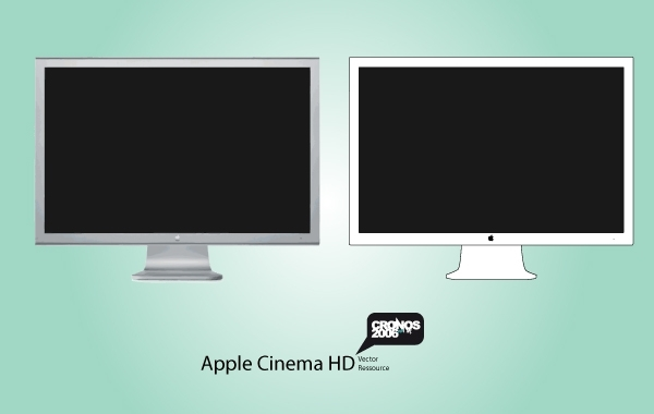 Free Apple HD Display Vector