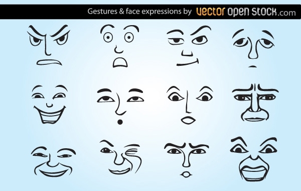 Free Gestures and face expressions