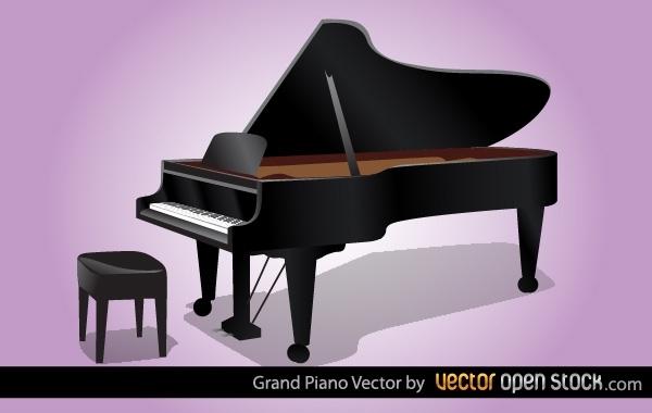 Free Grand Piano Vector