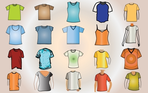 Free Colorful Template T-Shirt Vector