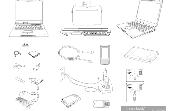Free Notebook & Tech Accessories Vector