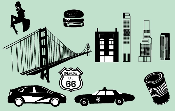 Free Black/White City Vector