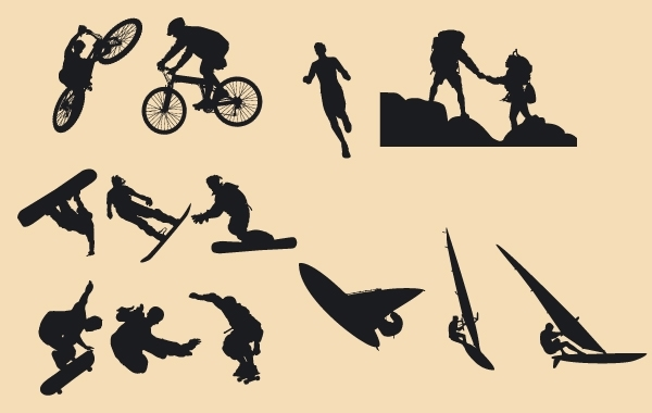 Free Silhouette Vector Riders