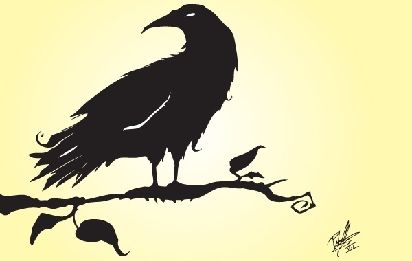 Free Silhouette Vector Crow