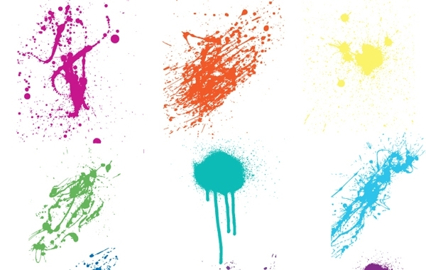 Free Crazy Colorful Vector Splatters
