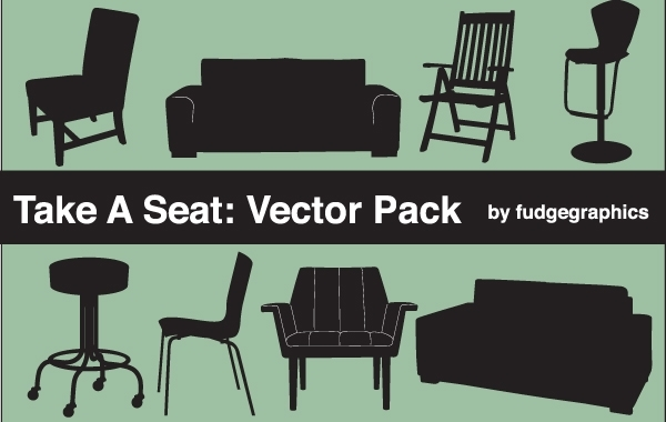 Free Silhouette Vector Seating Objects