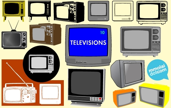 Free Old Model Vector Television Set
