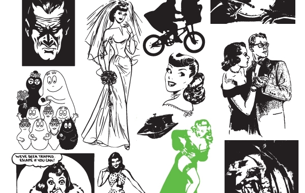 Free Black & White Vector Art
