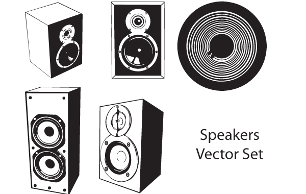Free Vector Speaker Set