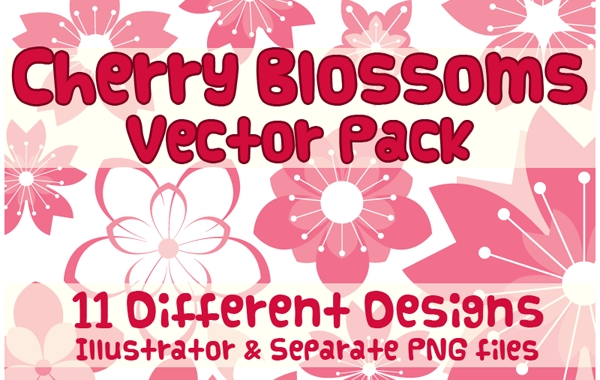 Free Vector Cherry Blossom Design