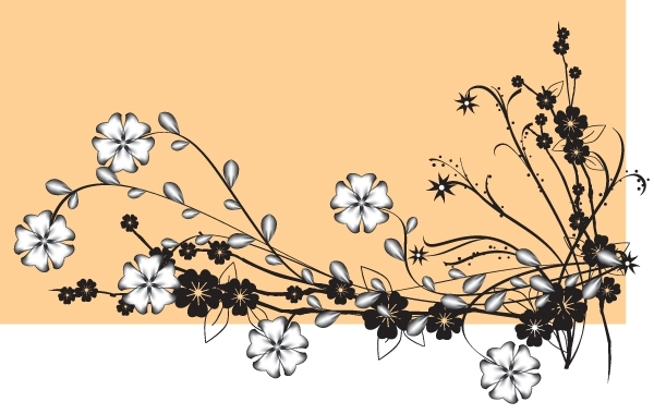 Free Vector Flower with Buds