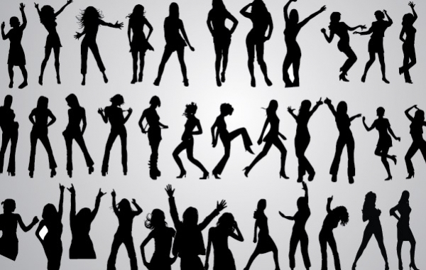 Free 46 Girls Dancing Silhouettes