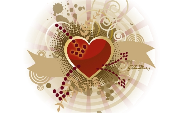 Free Vectors: Heart of peace and love | Aramisdream
