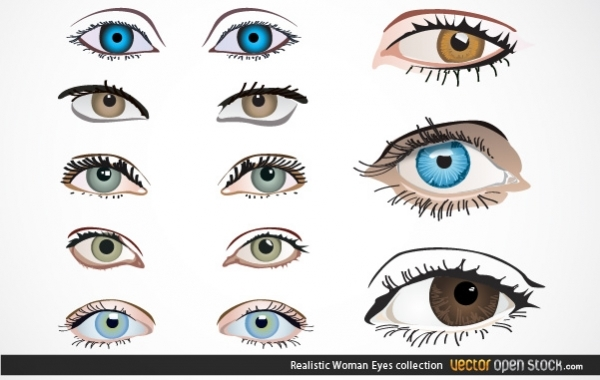 Free Realistic Woman Eyes Collection