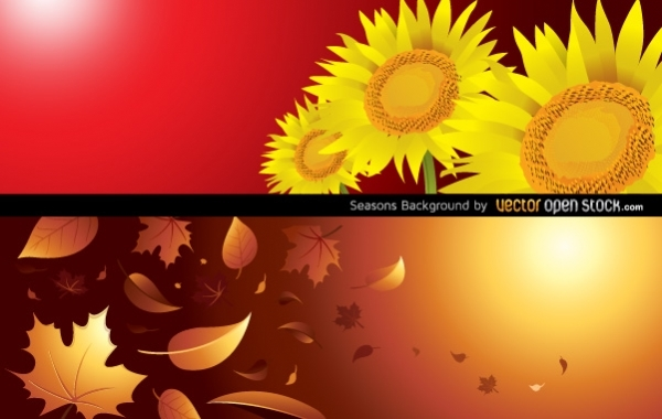 Free Seasons Background (Autumn & Summer)