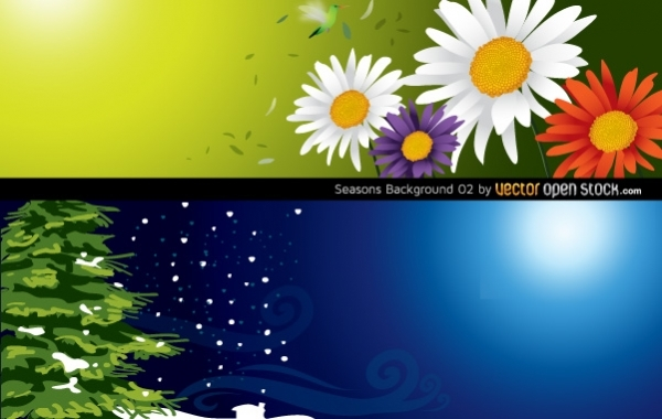 Free Seasons Background (Spring & Winter)