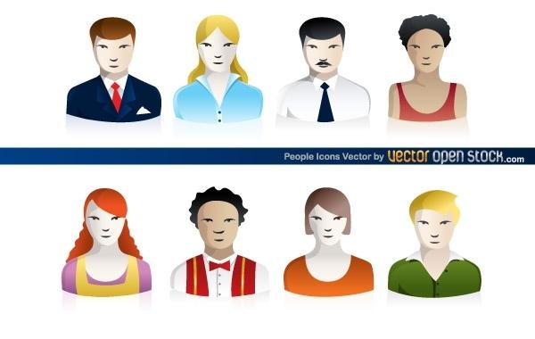 Free Vectors: People Icons  | Vector Open Stock
