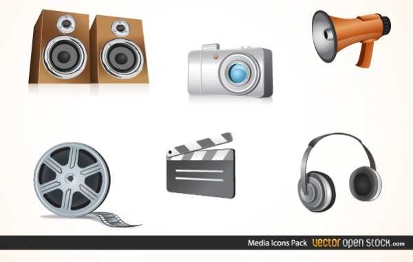 Free Media Icons Pack