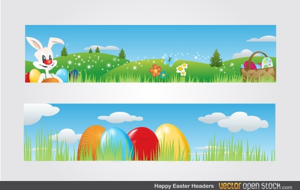 Free Happy Easter Headers