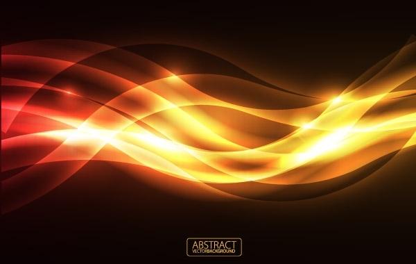 Free Orange Glare Vector Background