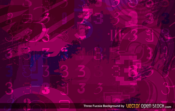Free Three Fuscia Background