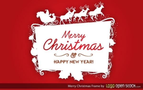 Free Christmas Logo Frame