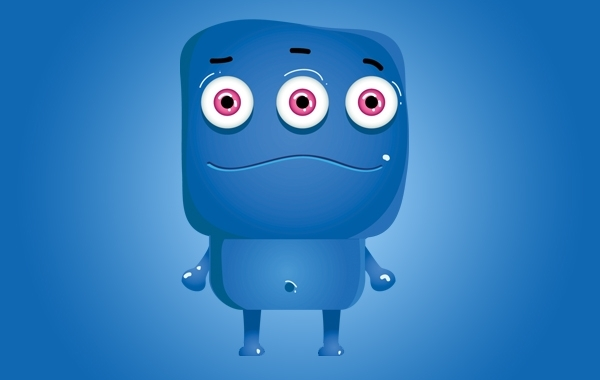 Free Monster Blue Icon Character