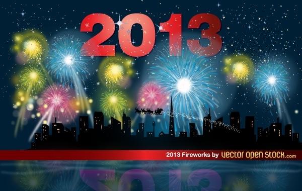 Free 2013 Fireworks night with skyline
