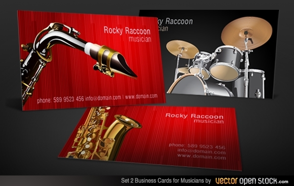 Free Musicians Business Card Set 2