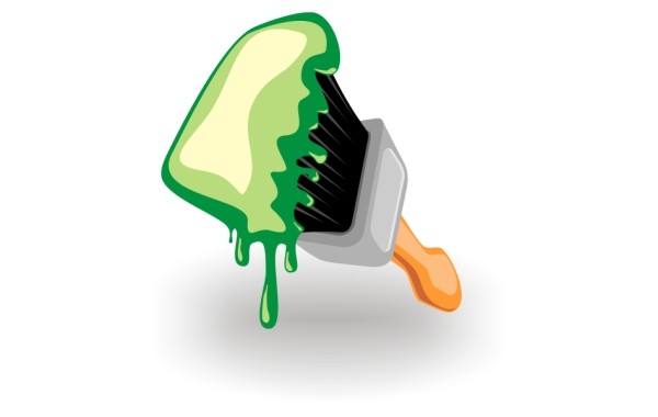 Free Vectors: Paint brush icon | Free Vector
