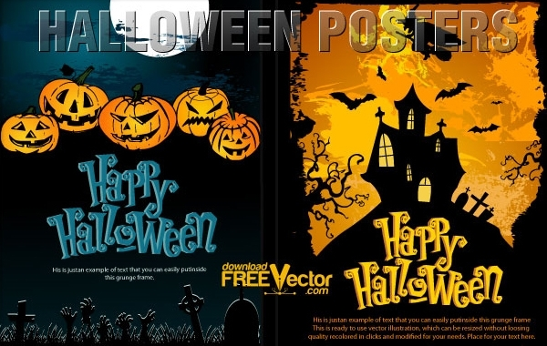 Free Vector Halloween Templates