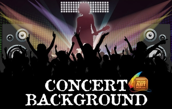 Free Awesome Free Vector Concert Background