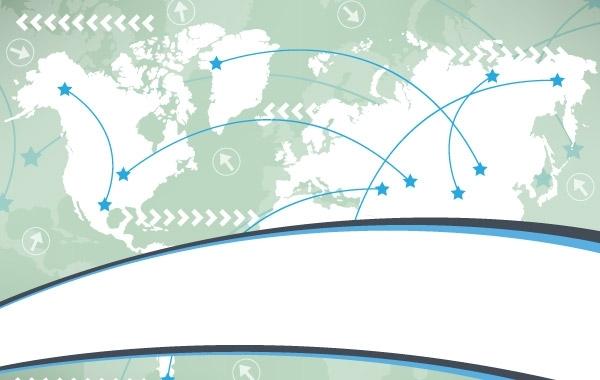 Free Worldmap business card vector