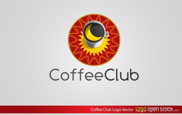 Free Coffee Club Logo Vector