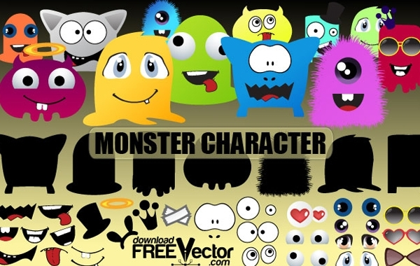 Free Monsters Character