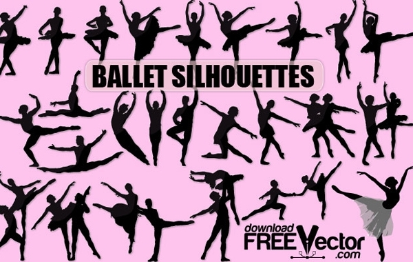 Free Vector Ballet Silhouette