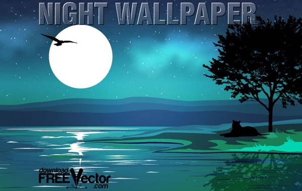 Free Vector Night Wallpaper