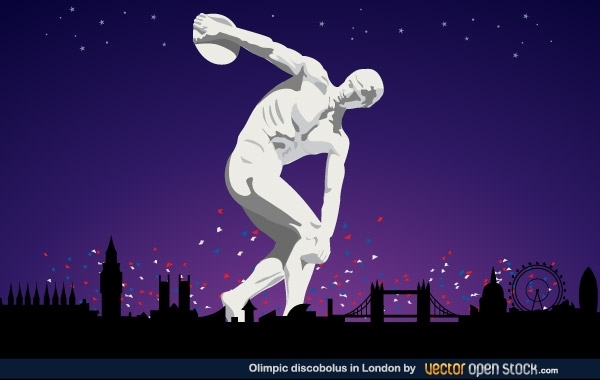 Free Olympic Discobolus in London 2012