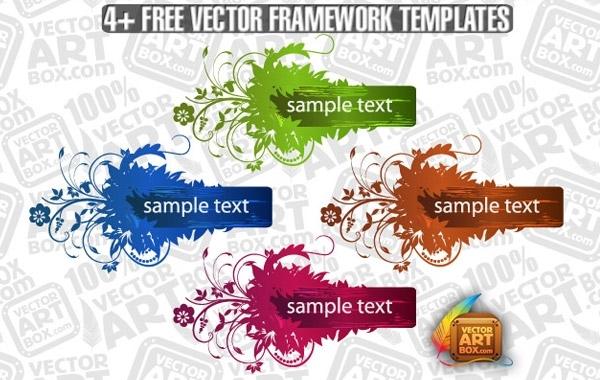Free Useful Free Vector Flourish Framework Template