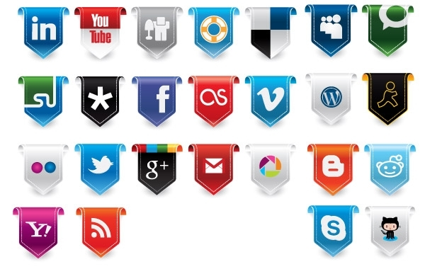 Free New Social Media Vector Icons