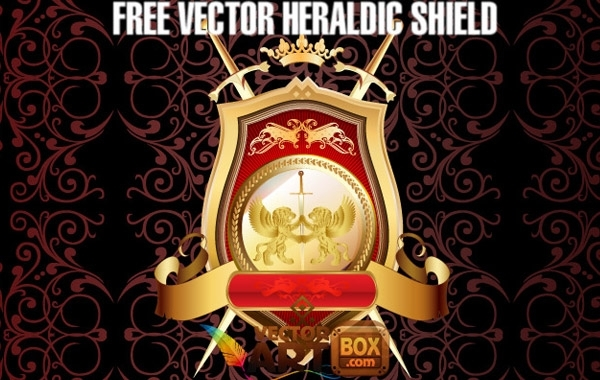 Free Great Free Vector Heraldic Shield