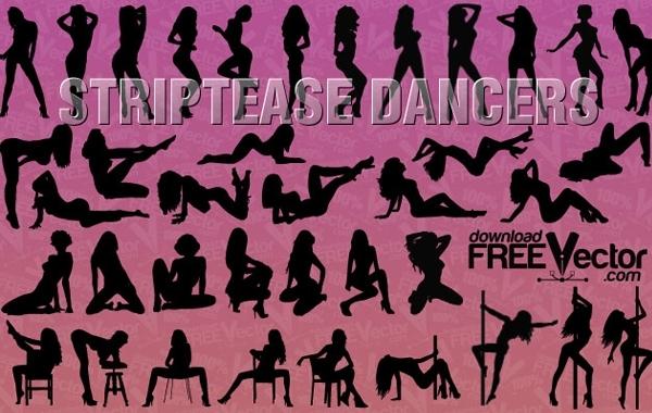 Free Silhouette Striptease Dancers