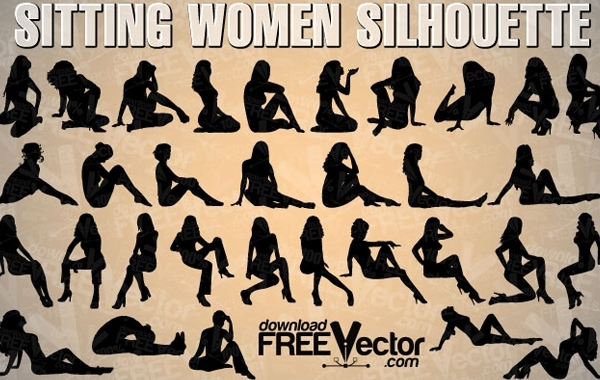 Free Sitting Woman Vector