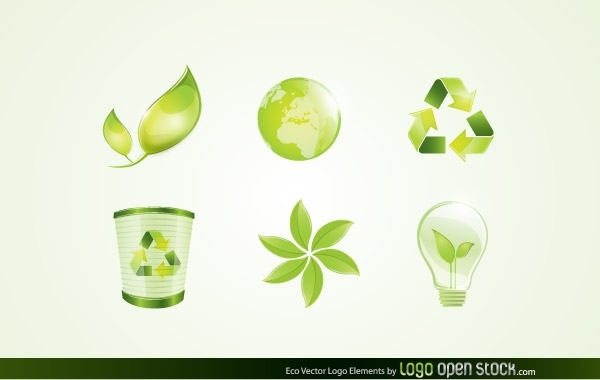Free Vectors: Eco Vector Logo Elements | Logo Open Stock