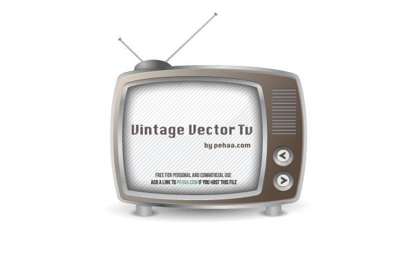 Free Vintage Free Vector TV