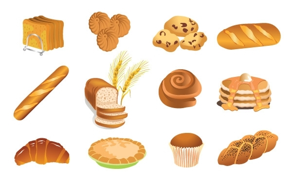 Free Bakery Products Vector