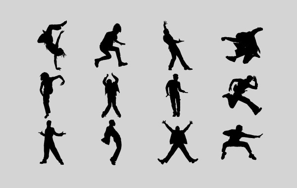 Free Men Emotion Silhouettes