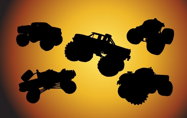 Free Free Bigfoot Cars Silhouettes