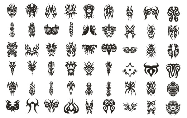 Free Vector tattoo set